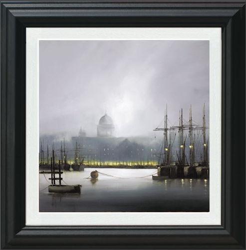 Mist On The Thames - Framed by Barry Hilton