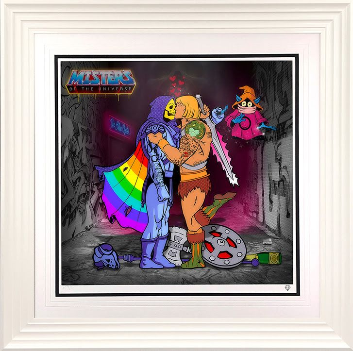 Misters Of The Universe - Rainbow Edition - White - Framed by JJ Adams