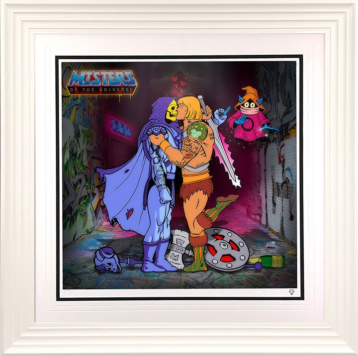 Misters Of The Universe - White - Framed by JJ Adams