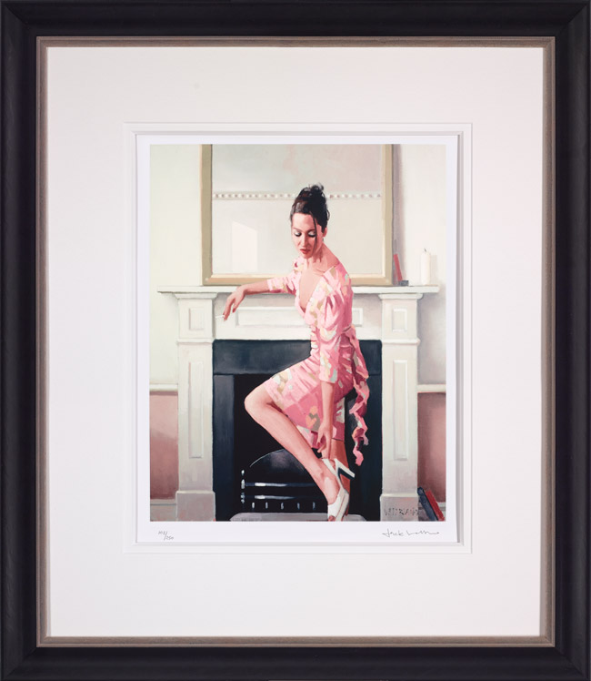Model In Westwood - Framed by Jack Vettriano