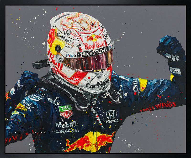 Monaco Max - Canvas - Black Framed Box Canvas by Paul Oz