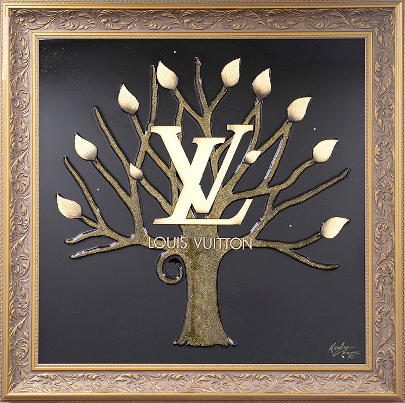 Money Grows On Trees - Louis Vuitton - Original - Gold - Framed by Kealey Farmer