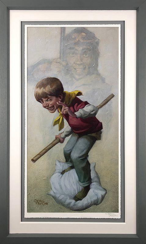 Monkey - Artist Proof Grey - Framed by Craig Davison