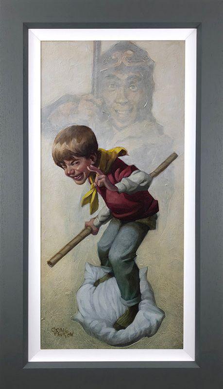 Monkey - Canvas - Artist Proof Grey - Framed by Craig Davison