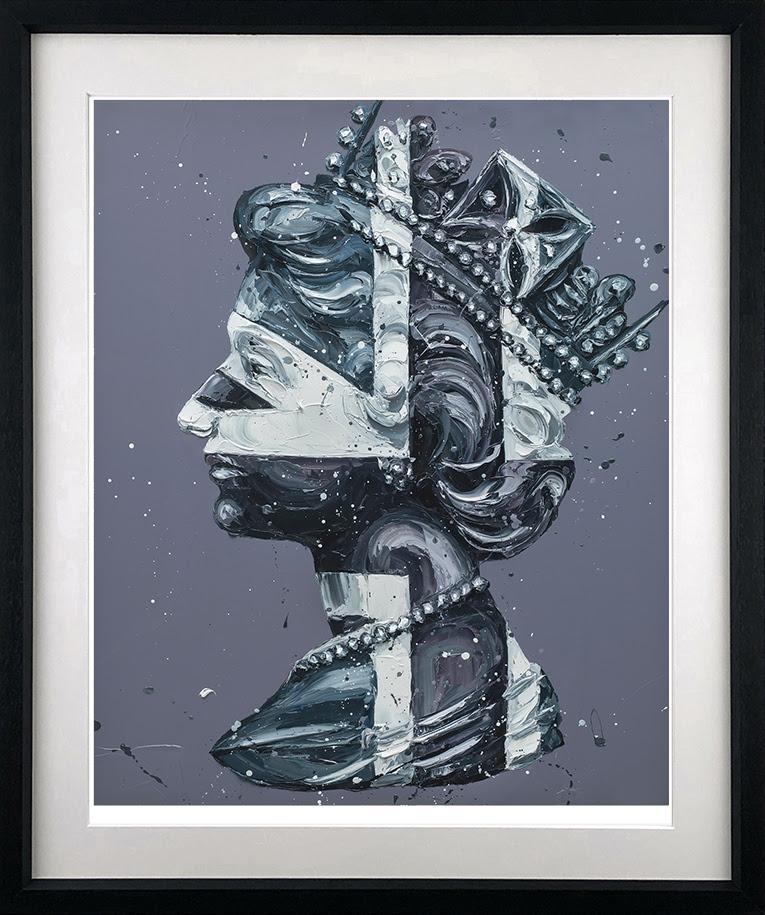 Monochrome Queen Jack - Black - Framed by Paul Oz