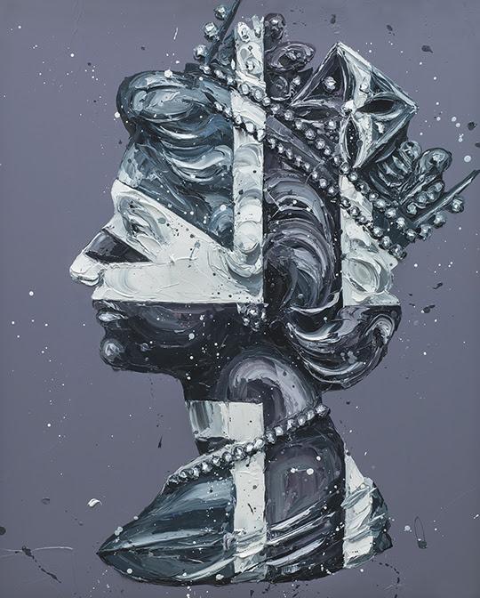 Monochrome Queen Jack by Paul Oz