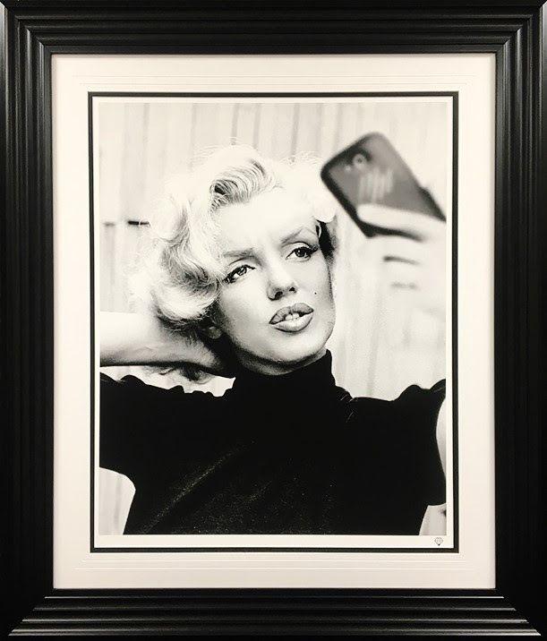 Monroe Selfie - Black - Framed by JJ Adams