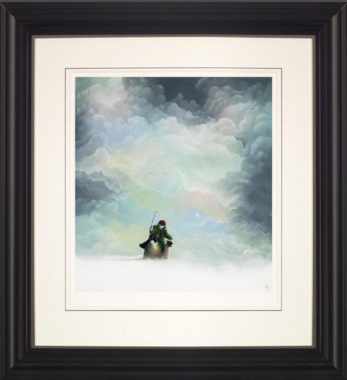 Morning Snow - Black - Framed by Mackenzie Thorpe