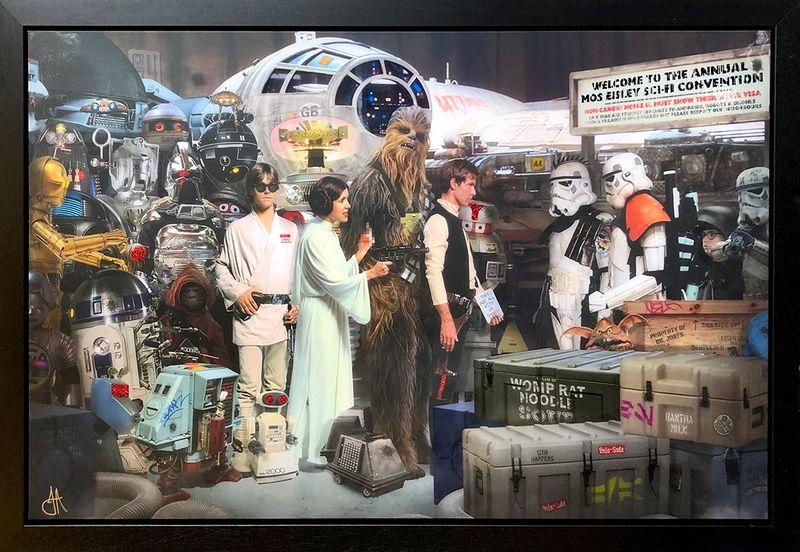 Move Along - Star Wars - Original - Framed by JJ Adams