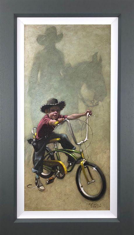 Move 'Em On, Head 'Em Up...Rawhide!! - Canvas - Grey - Framed by Craig Davison