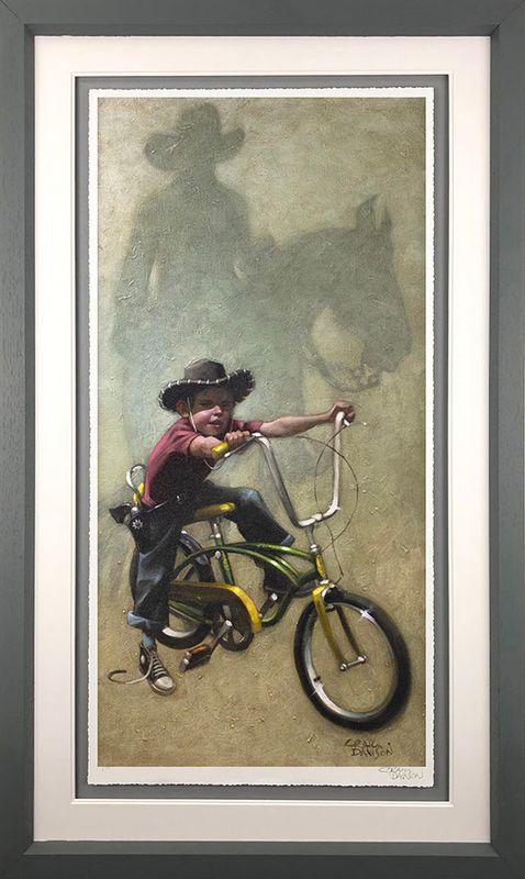 Move 'Em On, Head 'Em Up...Rawhide!! - Grey - Framed by Craig Davison