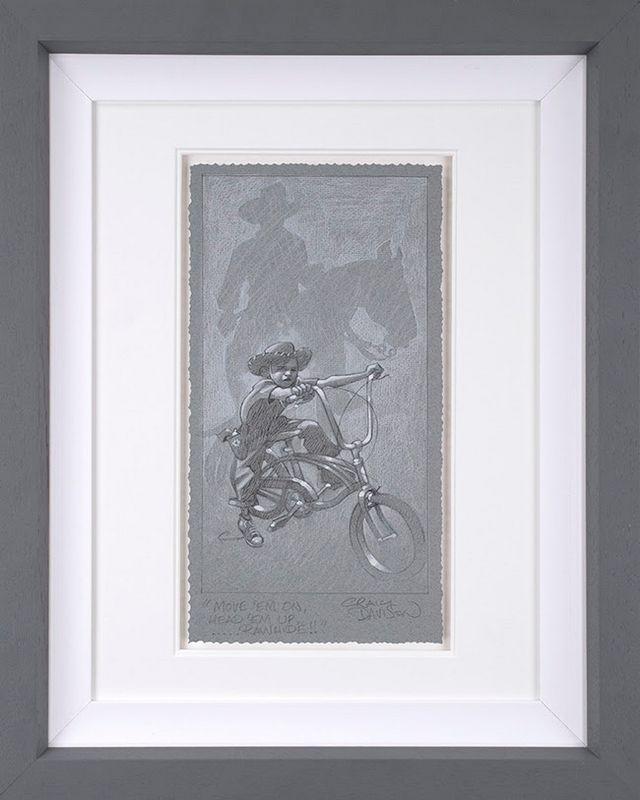 Move 'Em On, Head 'Em Up...Rawhide!! - Sketch - Artist Proof Grey - Framed by Craig Davison