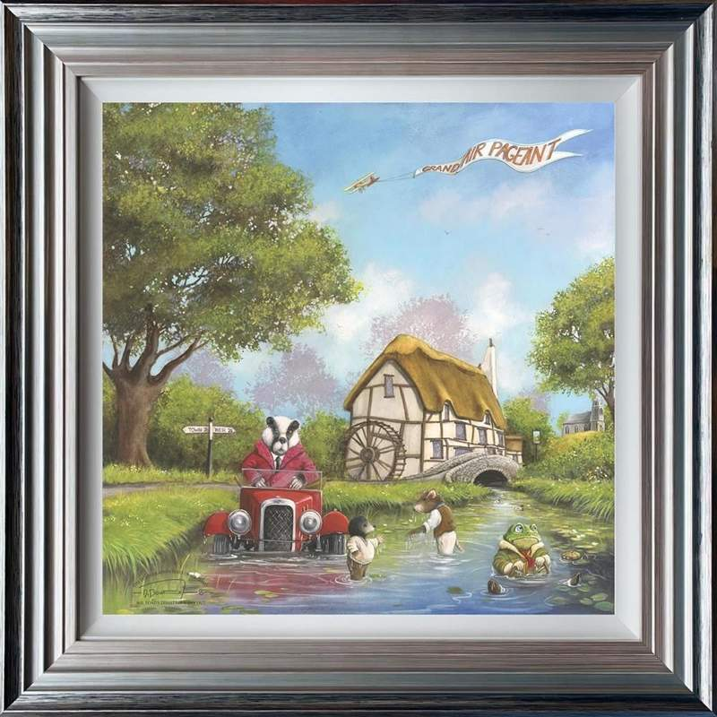 Mr Toad's Disastrous Day Out - Framed by Dale Bowen
