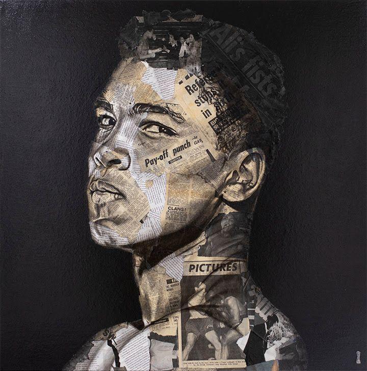 Muhammad Ali - Original - Black Framed by Chess