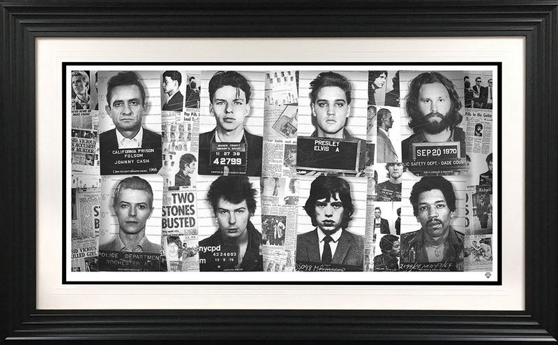 Music's Most Wanted - Black - Framed by JJ Adams