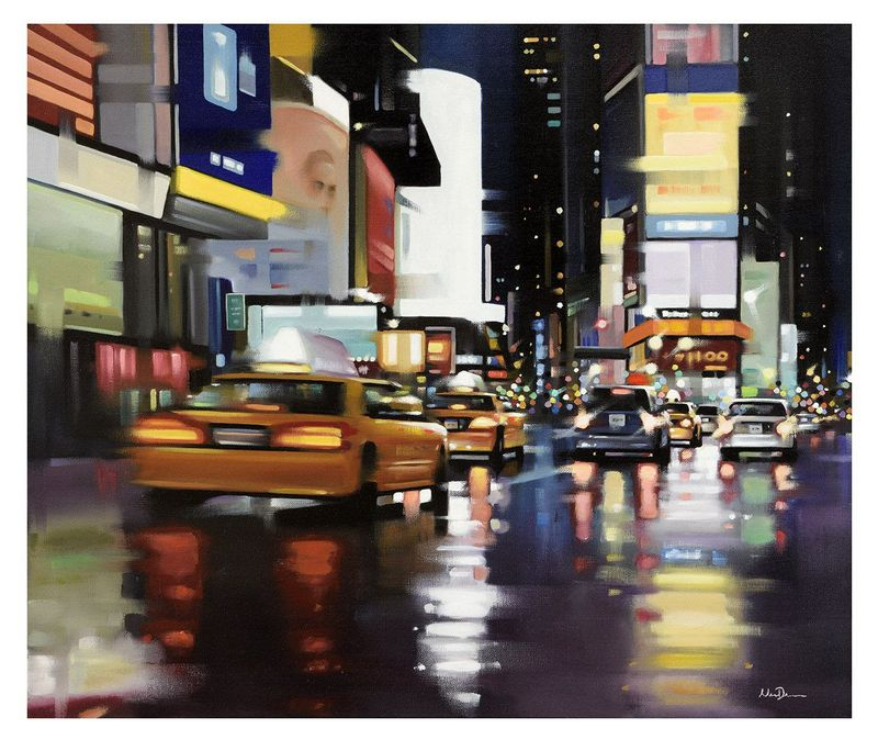 New York City Motion - Canvas - Board Only by Neil Dawson