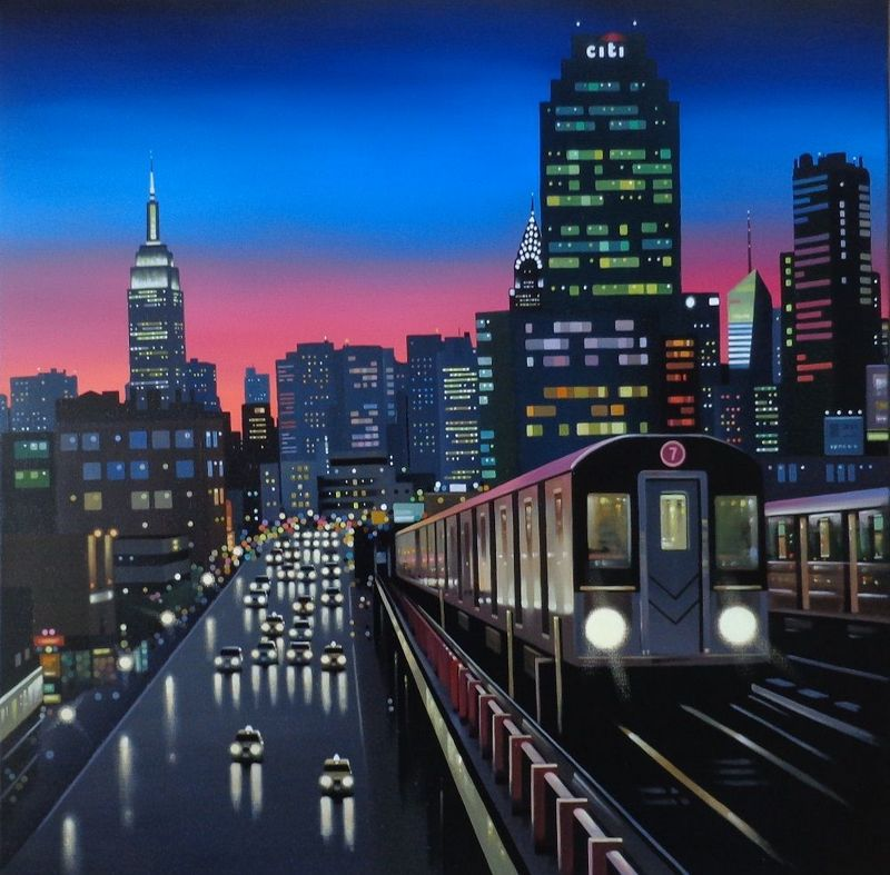 New York Tracks - Canvas - Artist Proof - With slip by Neil Dawson
