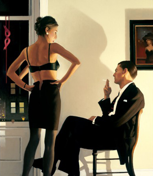 Night In The City - Framed by Jack Vettriano