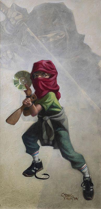 Ninja Star - Artist Proof - Mounted by Craig Davison