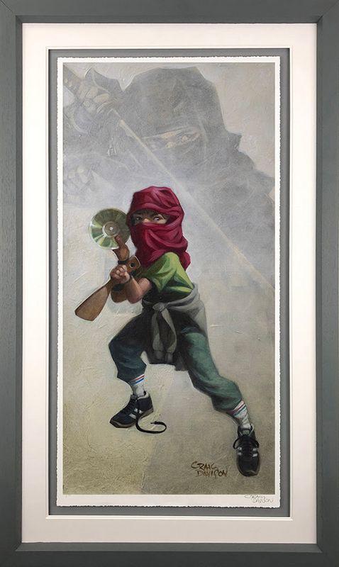 Ninja Star - Artist Proof Grey - Framed by Craig Davison
