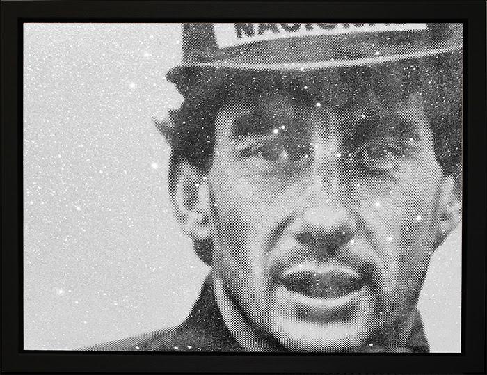 No Idols (Ayrton Senna) - Black Framed Box Canvas by Paul Oz