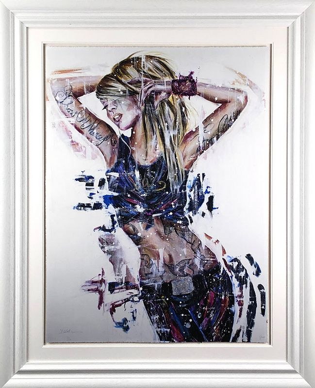 No Mercy - White Framed by Carly Ashdown