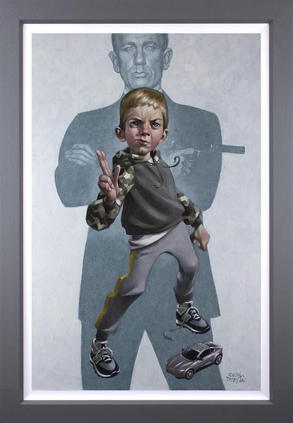 No Tim To Die - Canvas - Grey - Framed by Craig Davison