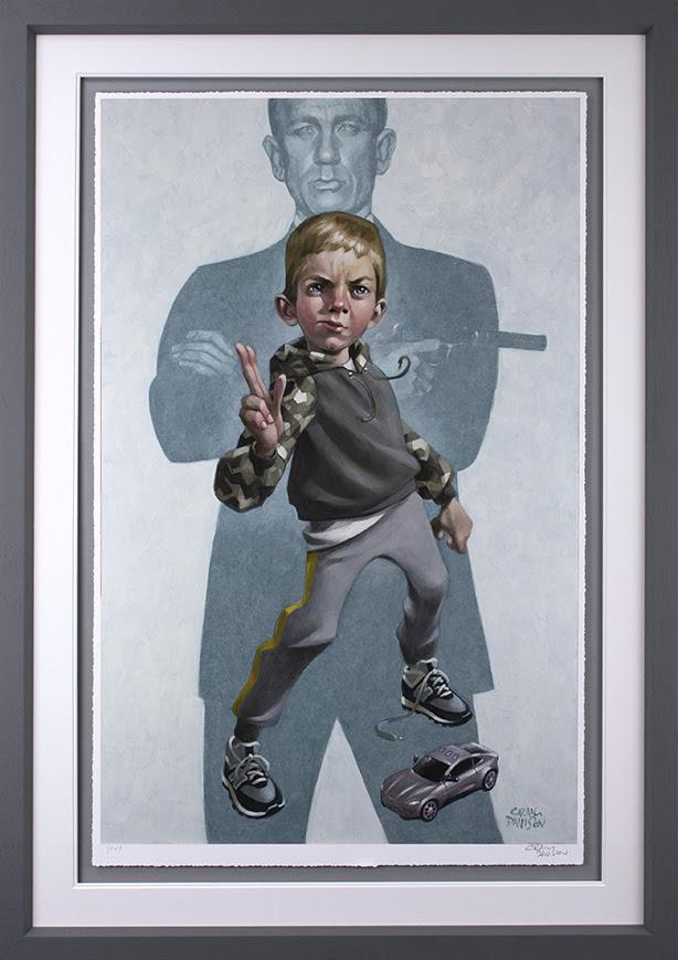 No Tim To Die - Grey - Framed by Craig Davison
