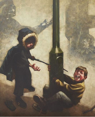 Noooo !! (Dark Lord & Luke Skywalker) - Canvas - Framed by Craig Davison