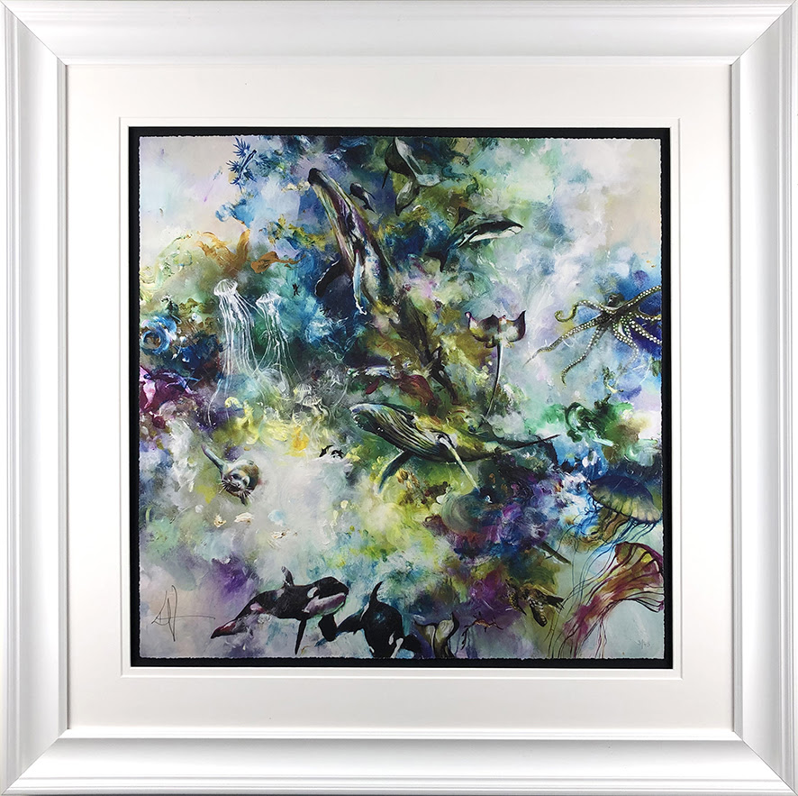 Odyssey - In White - Framed by Katy Jade Dobson