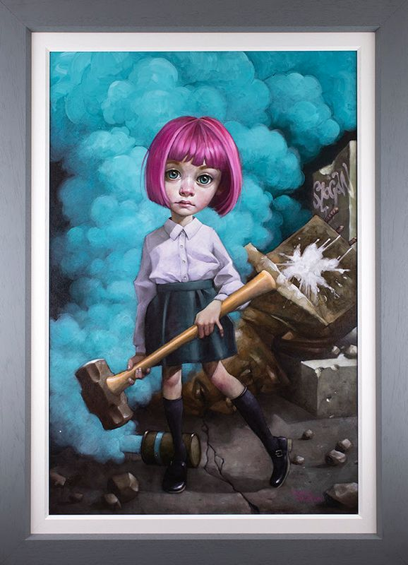 Oh, I Don't Know About Art, But I Know What I Like - Canvas - Grey - Framed by Craig Davison