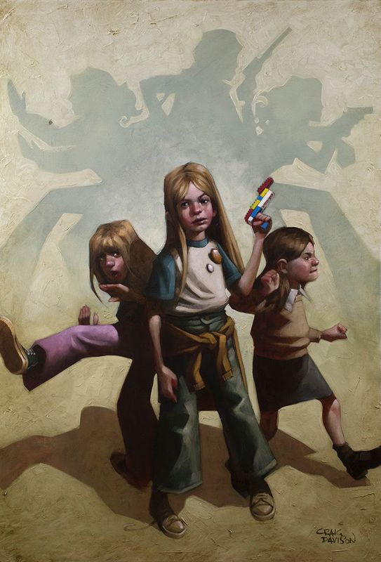 Ok Angels, Lets Get To Work - Mounted by Craig Davison
