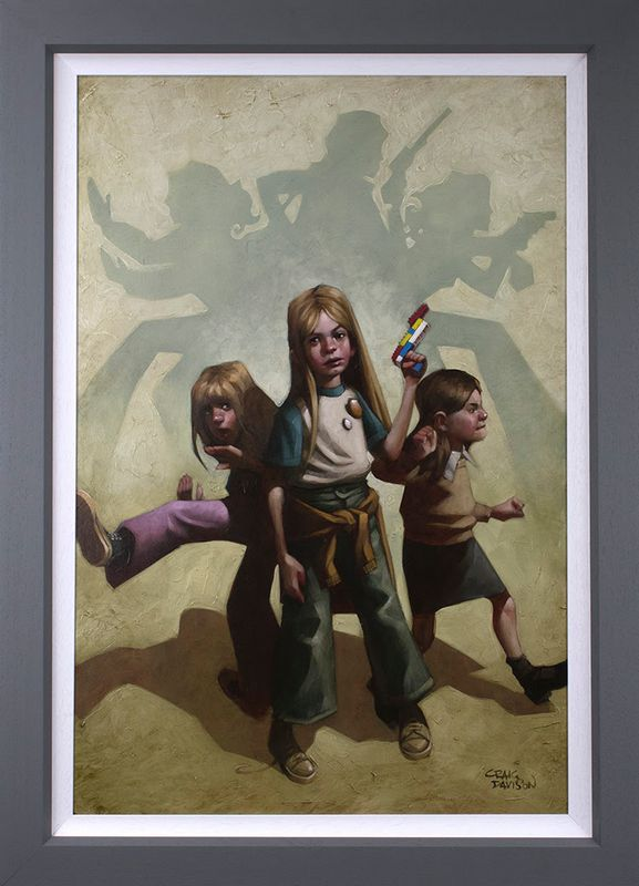Ok Angels, Lets Get To Work - Canvas Artist Proof - Framed by Craig Davison