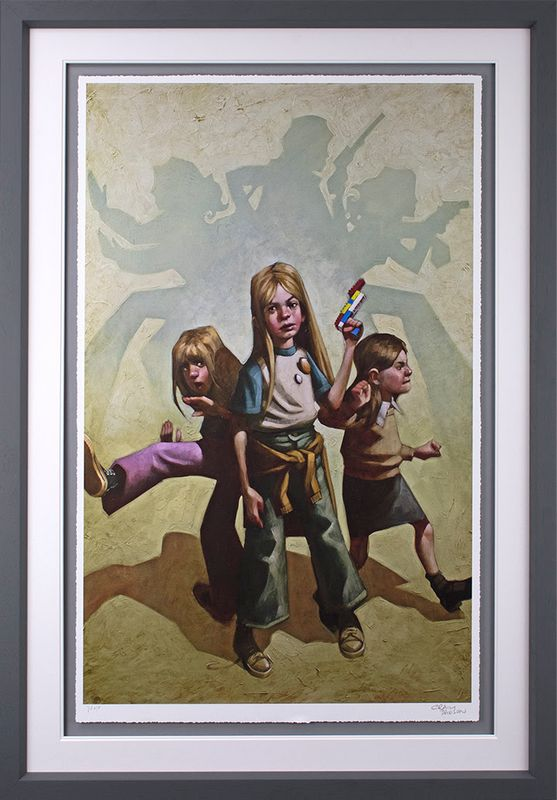 Ok Angels, Lets Get To Work - Framed by Craig Davison