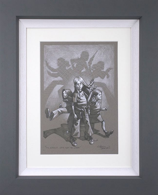 Ok Angels, Lets Get To Work  - Sketch - Framed by Craig Davison