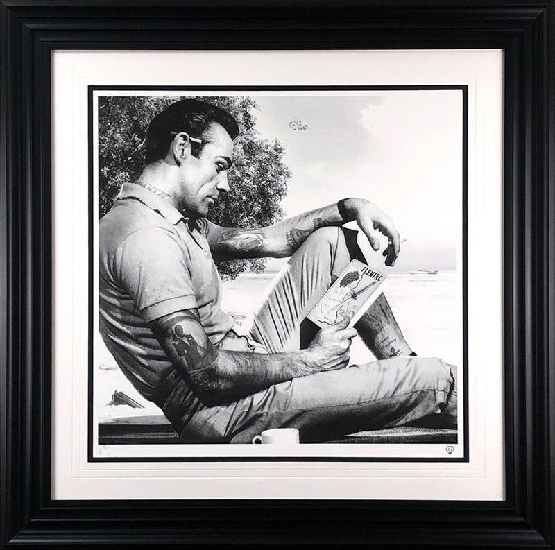 On Vacation - Black & White - Framed by JJ Adams