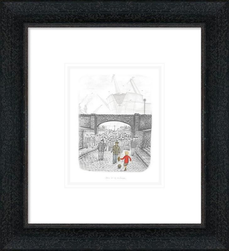 One In A Million - Sketch - Framed by Leigh Lambert