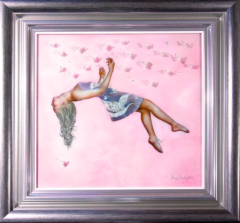 One Thousand Paper Cranes - Silver Frame by Kerry Darlington