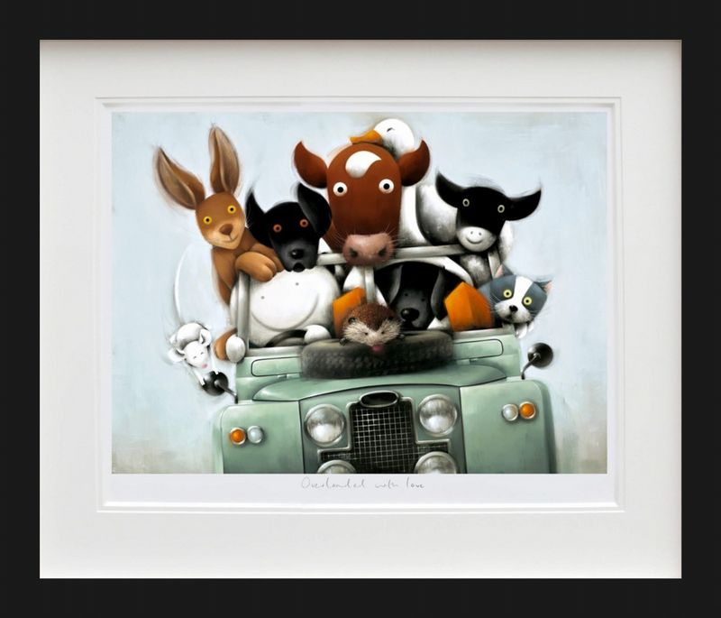 Overloaded With Love - Picture - Black - Framed by Doug Hyde