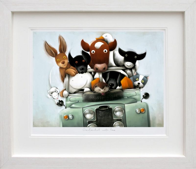 Overloaded With Love - Picture - White Framed by Doug Hyde