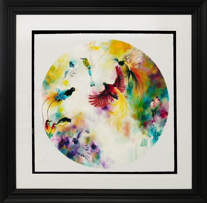 Paradise (Birds Of Paradise) (Small) - Framed by Katy Jade Dobson