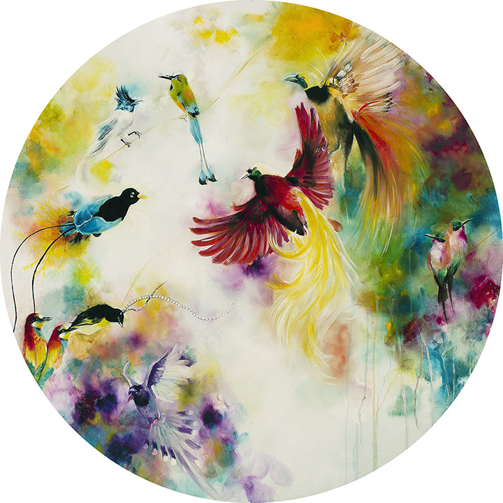Paradise (Birds Of Paradise) (Small)  by Katy Jade Dobson