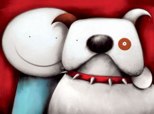 Partners In Crime - Man & Dog by Doug Hyde