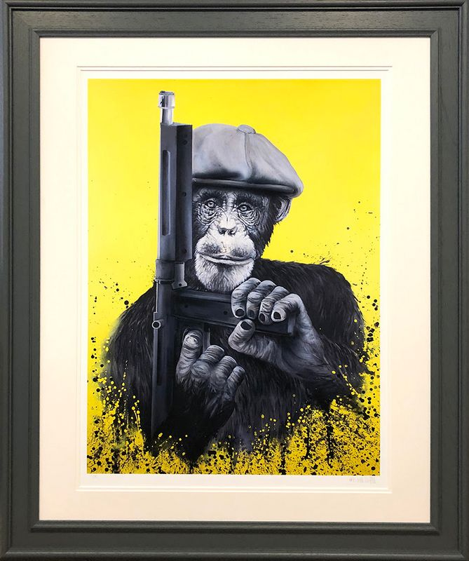 Peaky Primate  - Framed by Dean Martin *Mad Artist