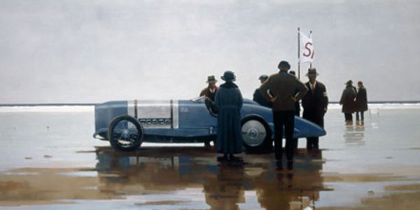 Pendine Beach - Mounted - Mounted by Jack Vettriano