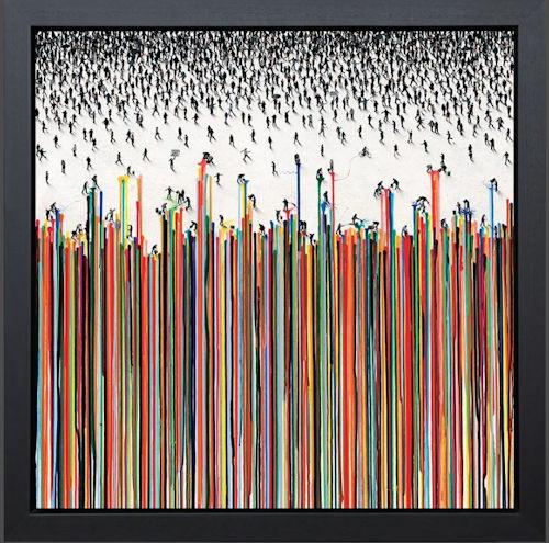 Perspectrum - Framed Box Canvas by Craig Alan