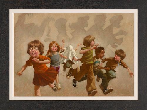 Pesky Kids - Canvas  - Framed by Craig Davison