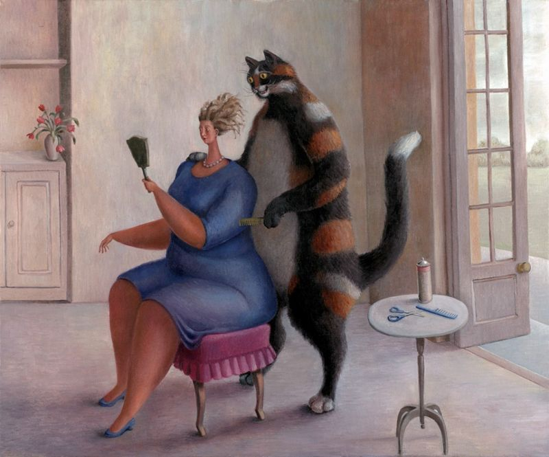 Pet Grooming - Framed by Sarah Jane Szikora