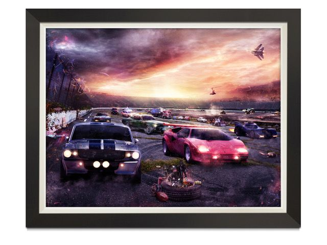 PetrolHead 2 - Framed Box Canvas by Mark Davies