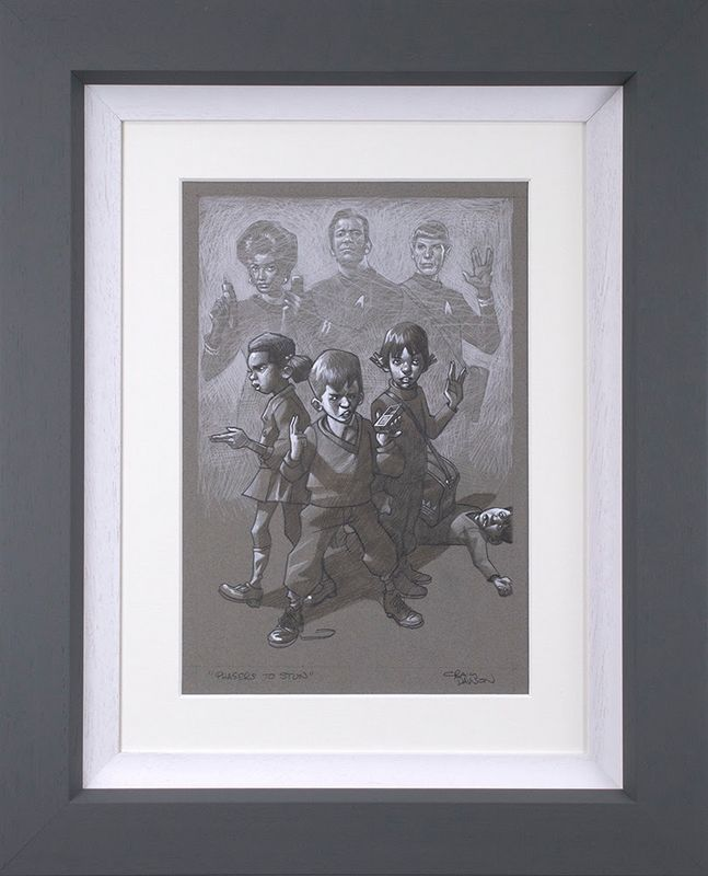 Phasers To Stun - Sketch - Original - Framed by Craig Davison
